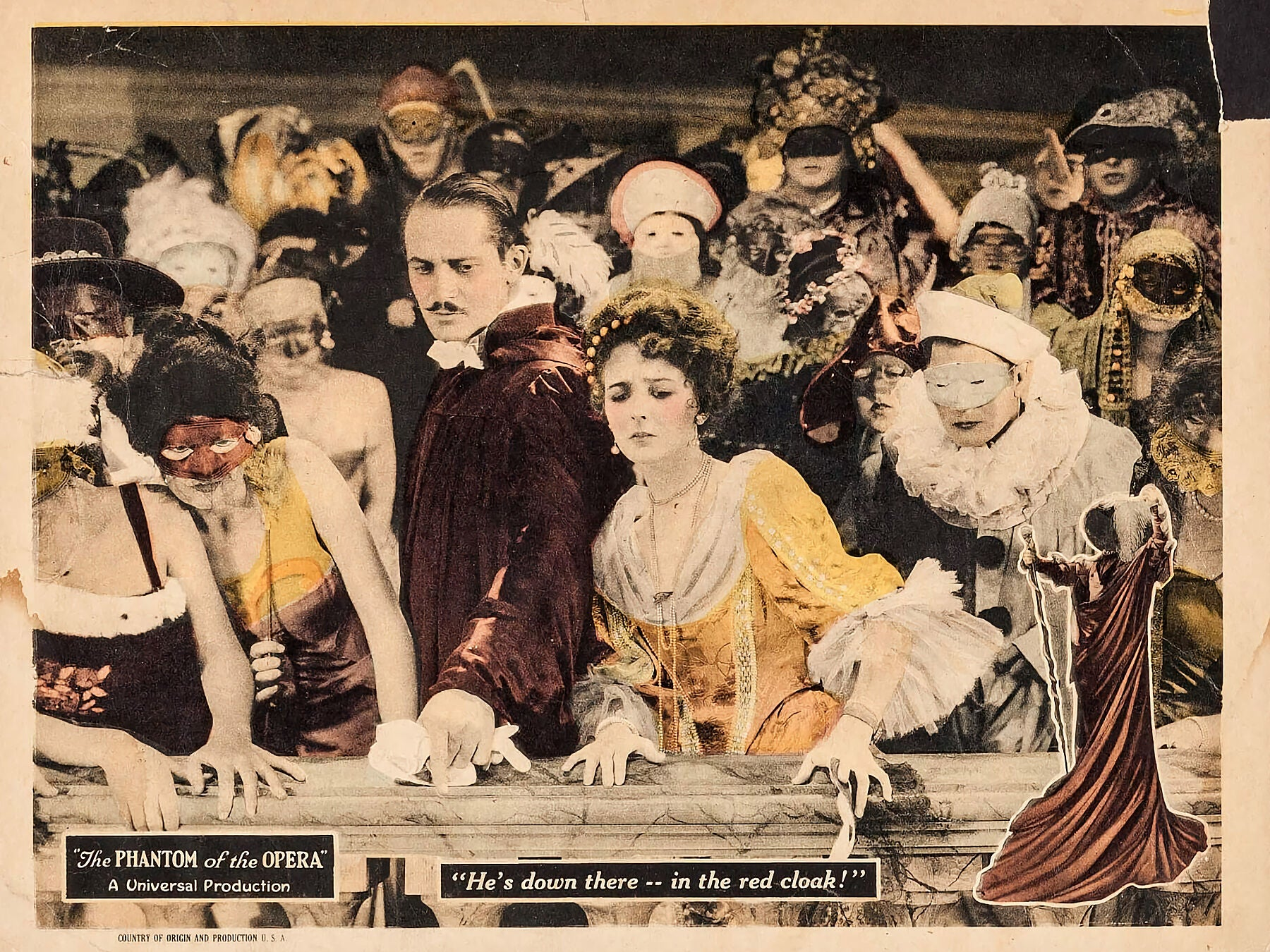 The Phantom of the Opera, Lobby Card - 1925