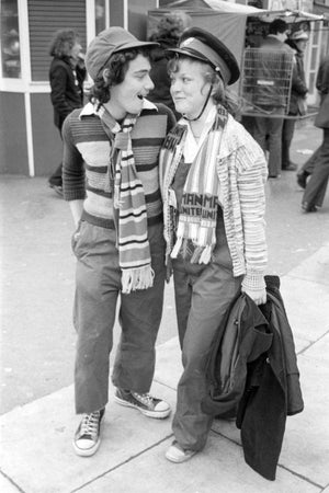 Two Manchester United Football Fans by Iain S.P. Reid, c. 1977