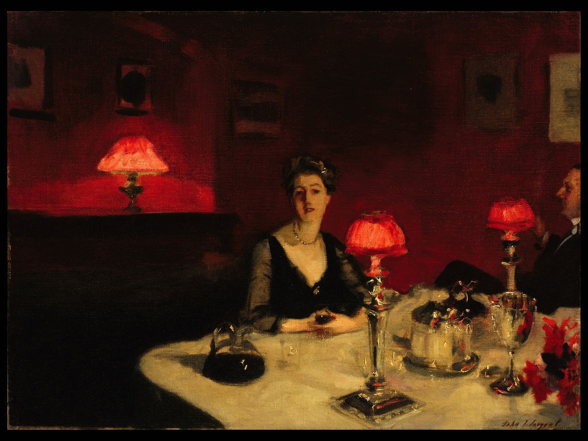 A Dinner Table at Night by John Singer Sargent -1884
