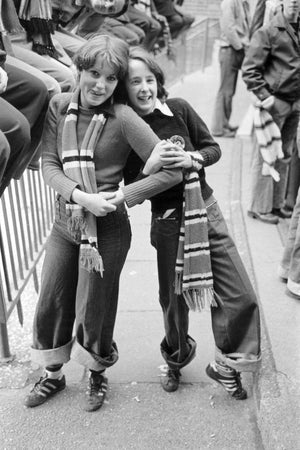 Two Manchester United Fans at the Game by Iain S. P. Reid, c. 1977