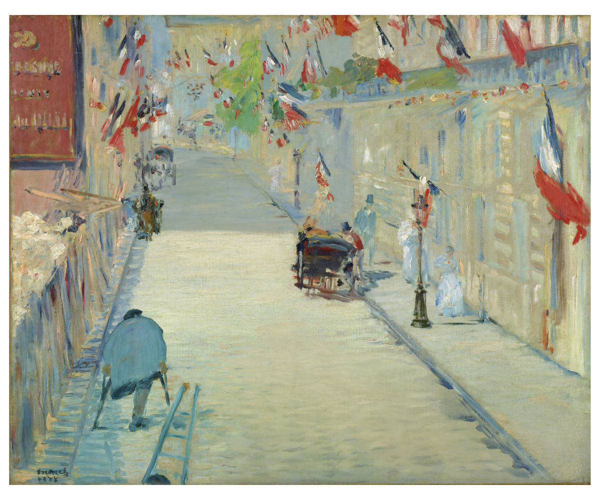 The Rue Mosnier with Flags by Édouard Manet - 1878