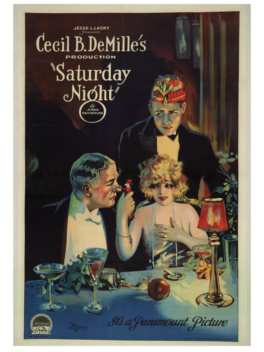 Saturday Night, movie poster - 1922