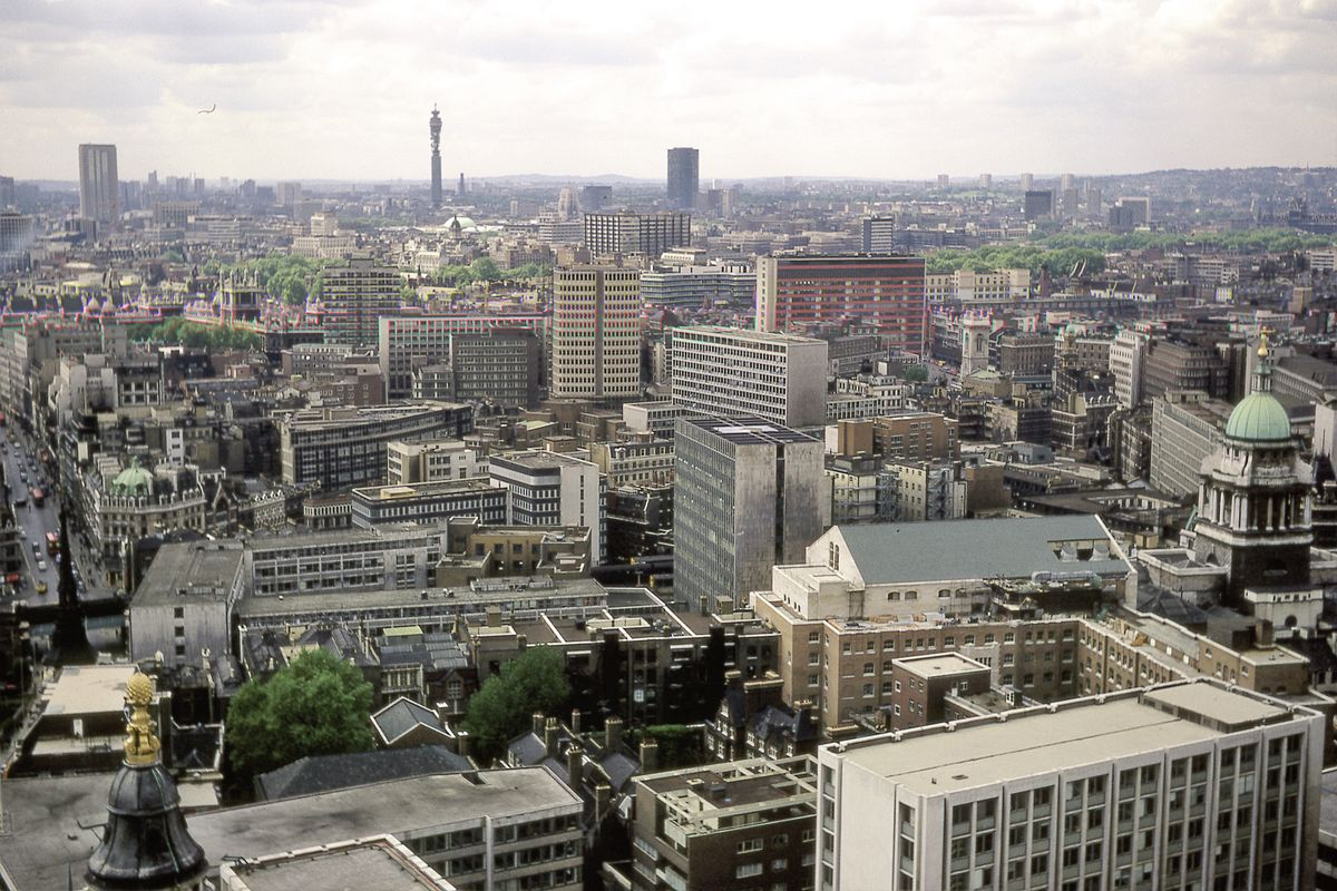 View From St Paul's Cathedral, London - 1972