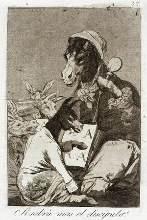Might Not The Pupil Know More? by Goya - 1799