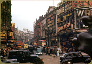 Looking up Shaftesbury Avenue, London by Chalmers Butterfield c.1949