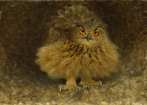 Eagle Owl by Bruno Liljefors - 1905