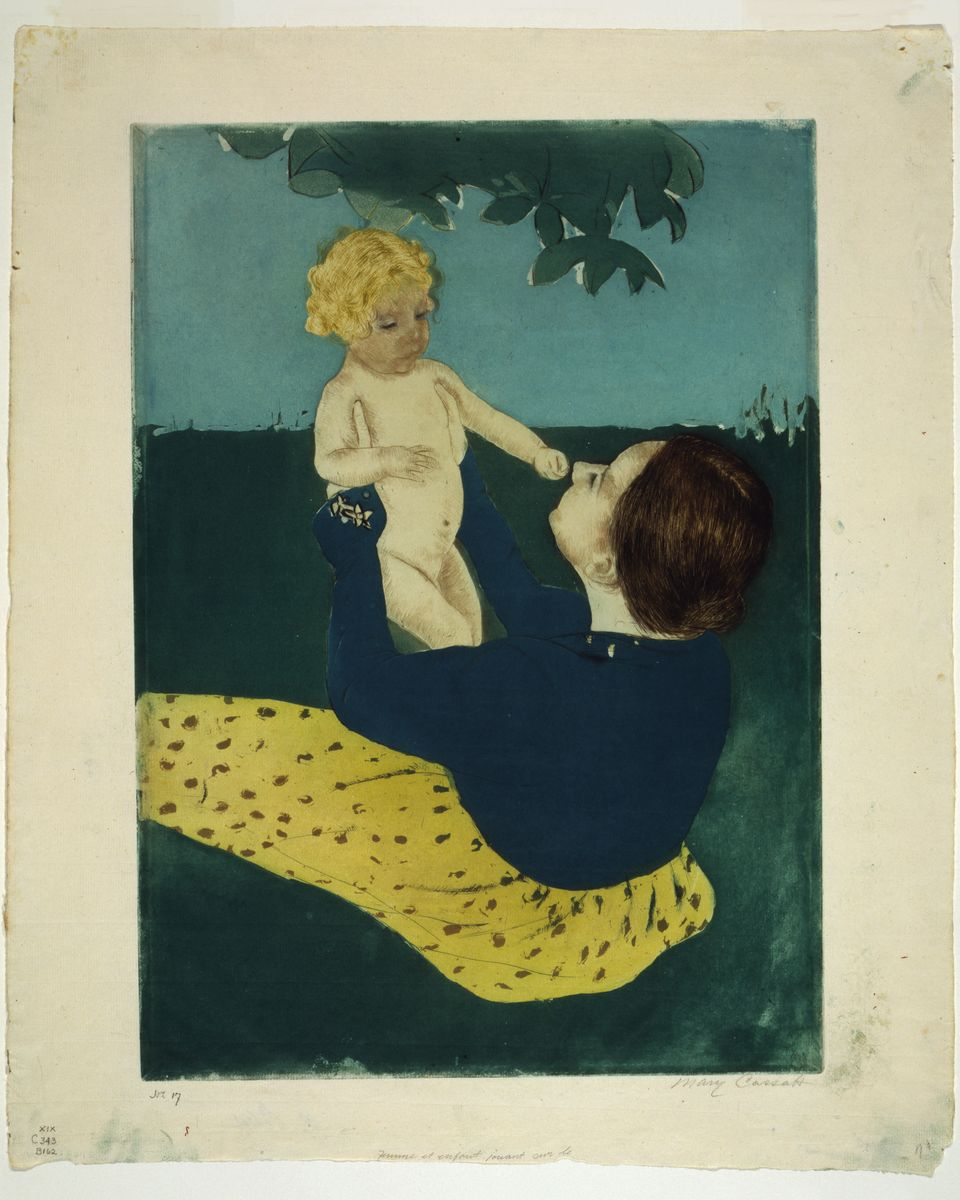 Under the Chestnut Tree by by Mary Cassatt - c. 1898