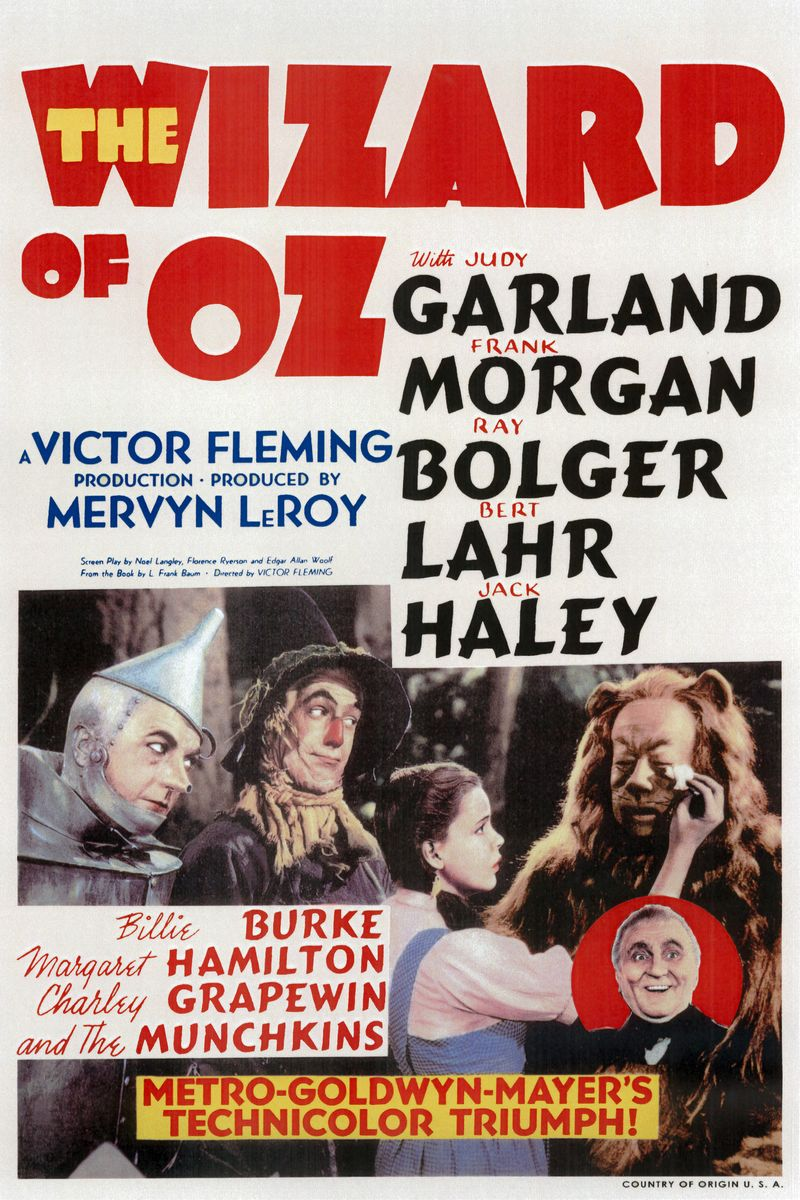 Wizard of Oz, Movie Poster - 1939