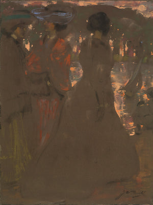 On the banks of the Serpentine by James Herald - 1905.