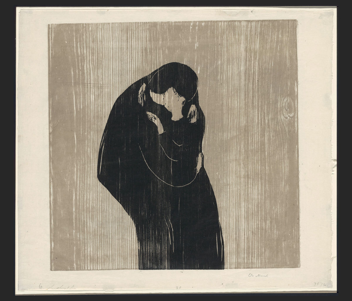 The Kiss IV by Edvard Munch - 1902