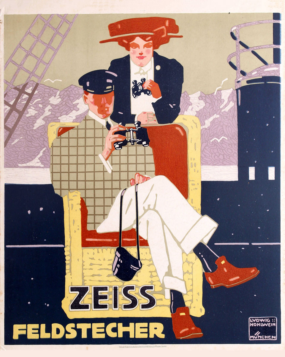 Poster for Zeiss Feldstecher Binoculars by Ludwig Hohlwein