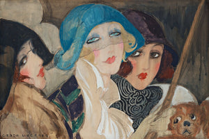Three Women Under an Umbrella Gerda Wegener - c.1925