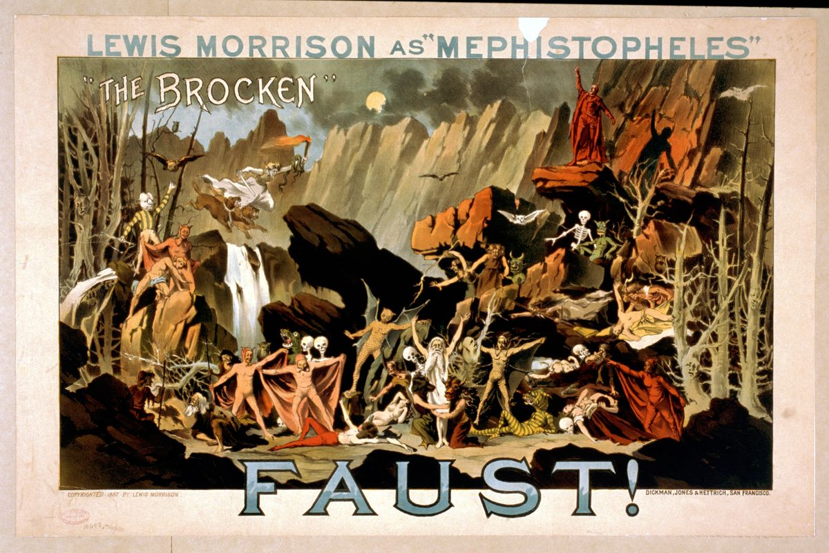 Faust with Lewis Morrison as 'Mephistopheles' - 1887