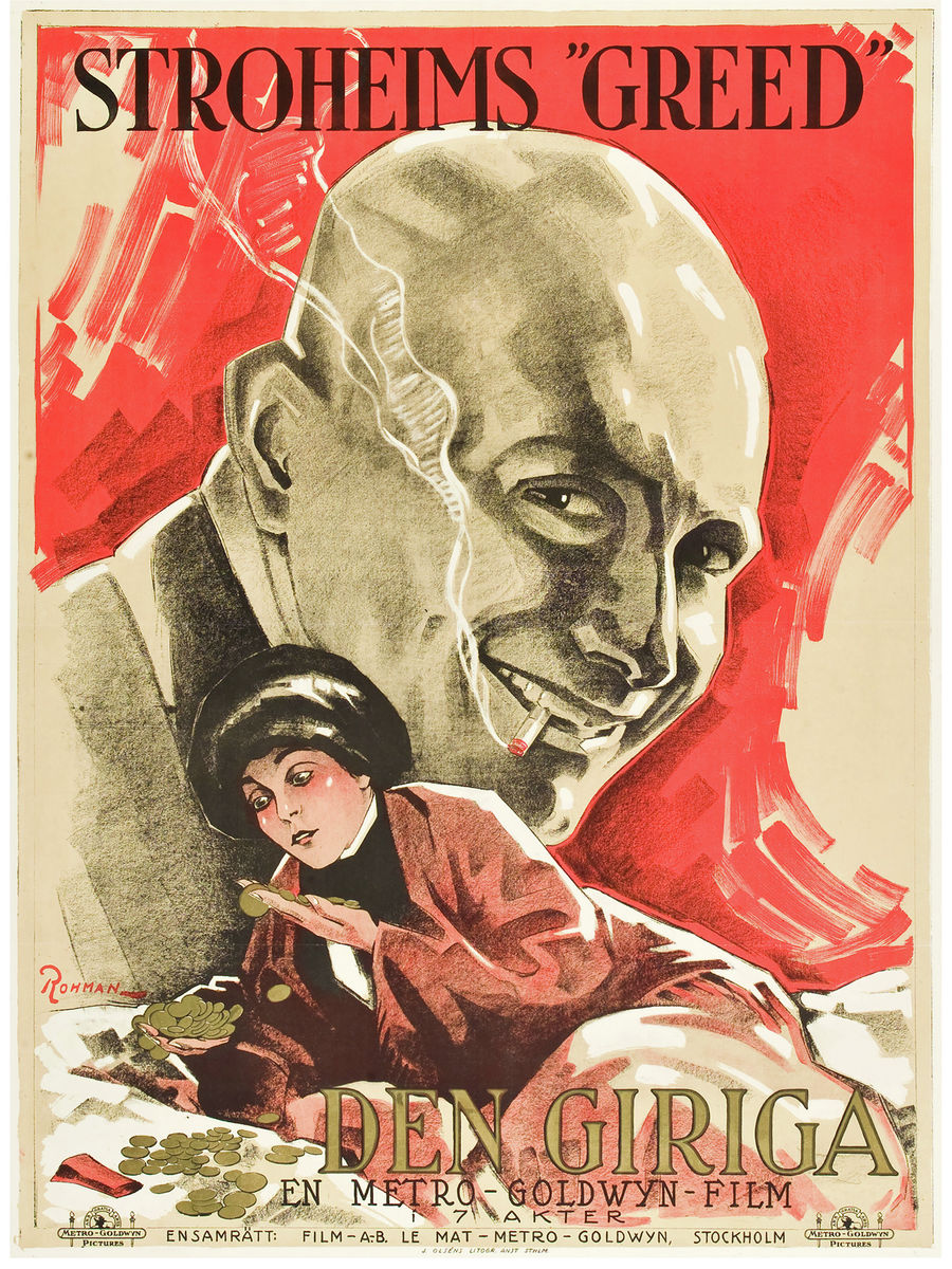 Poster for the Movie 'Greed' by Eric Rohman - 1924