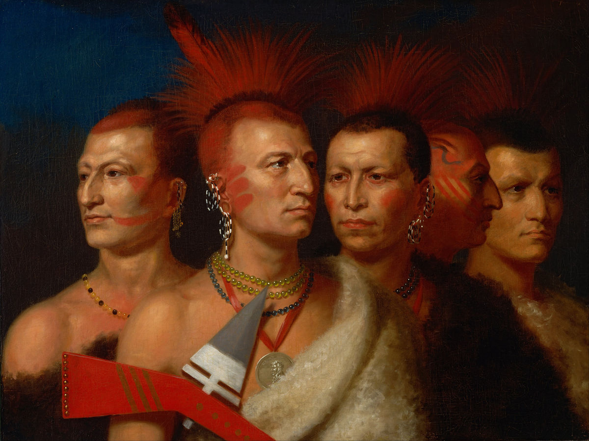 Young Omahaw, War Eagle, Little Missouri and Pawnees by Charles Bird King - 1821