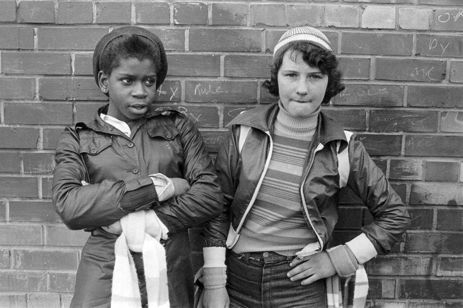 Two Manchester City Fans by Iain S. P. Reid, c. 1977