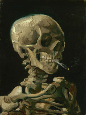 Head of a Skeleton With a Burning Cigarette by Vincent Van Gogh - 1886