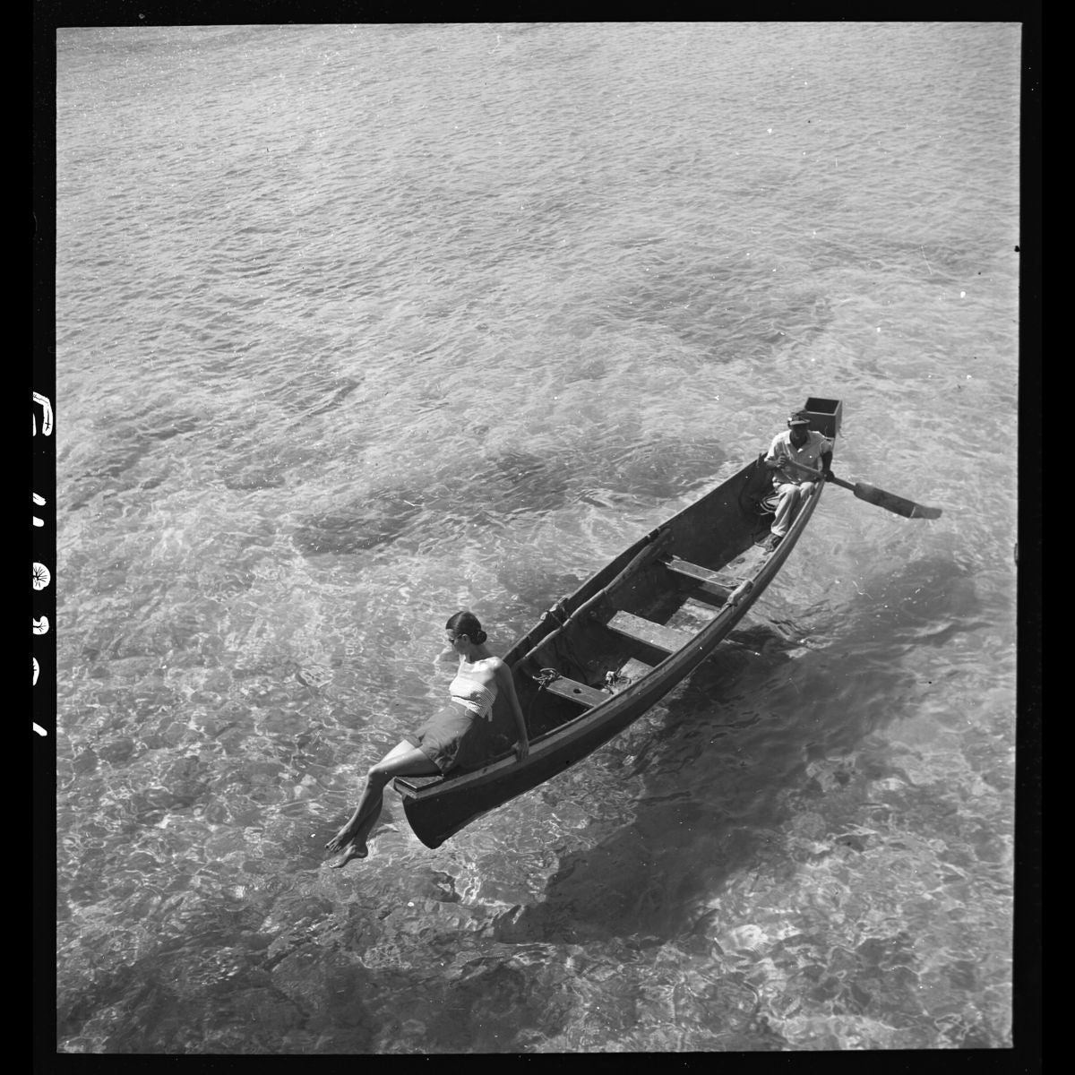 Boating On Montego Bay, Jamaica November by Toni Frissell - 1946