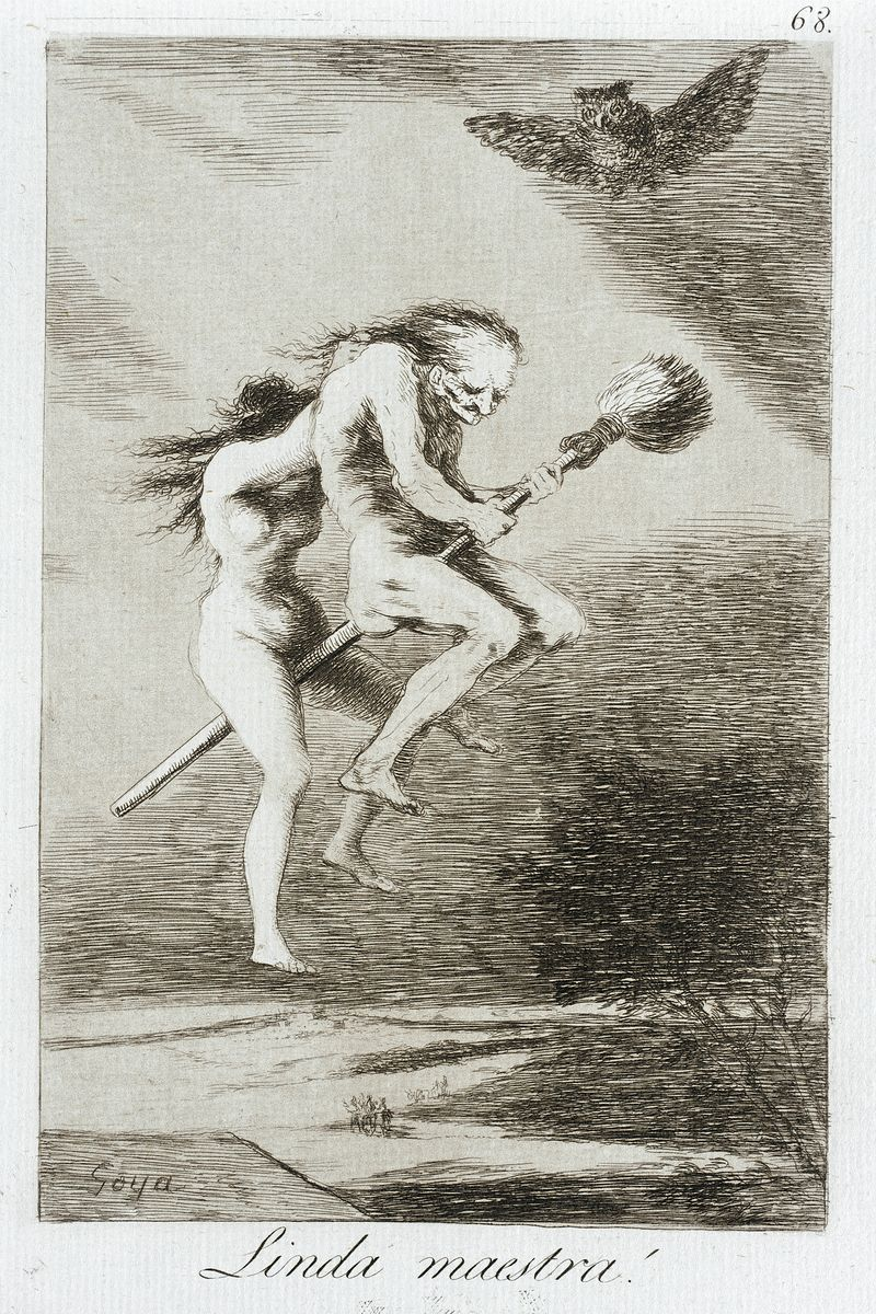 Pretty Teacher! From Los Caprichos by Goya - 1799