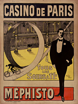Looping the Loop par Méphisto au Casino de Paris by Maurice Biais - 1908