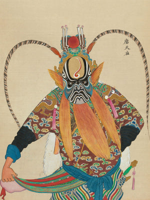 Plate from 'One Hundred Portraits of Peking Opera Characters' - 19th Century