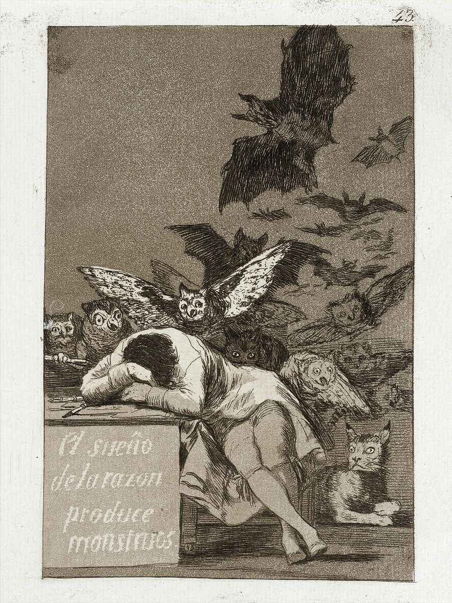 The Sleep of Reason Produces Monsters by Goya - 1799