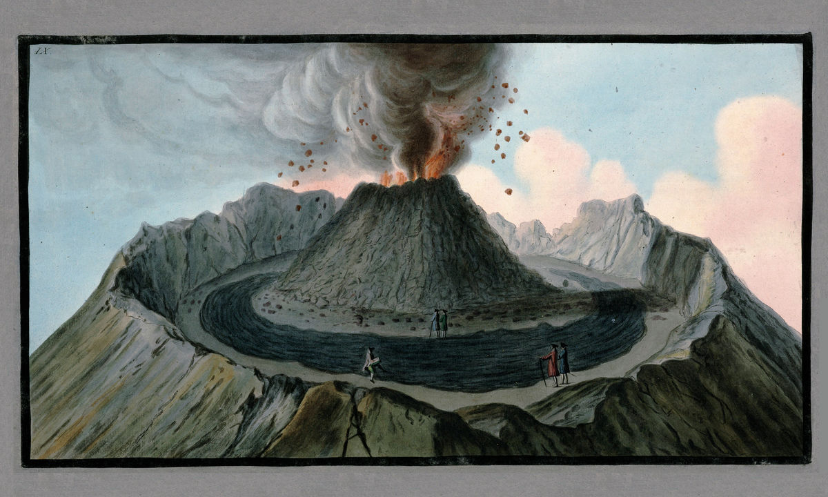 Interior View of the Crater of Mount Vesuvius by Sir William Hamilton - 1776
