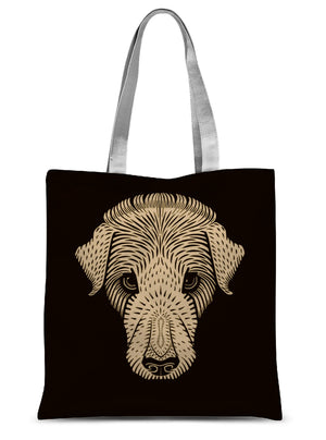 Dog's Head by Julie de Graag - 1920 Sublimation Tote Bag