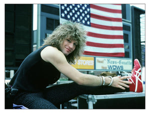 Jon Bon Jovi at Live Aid Philadelphia by Mark Weiss - 1986