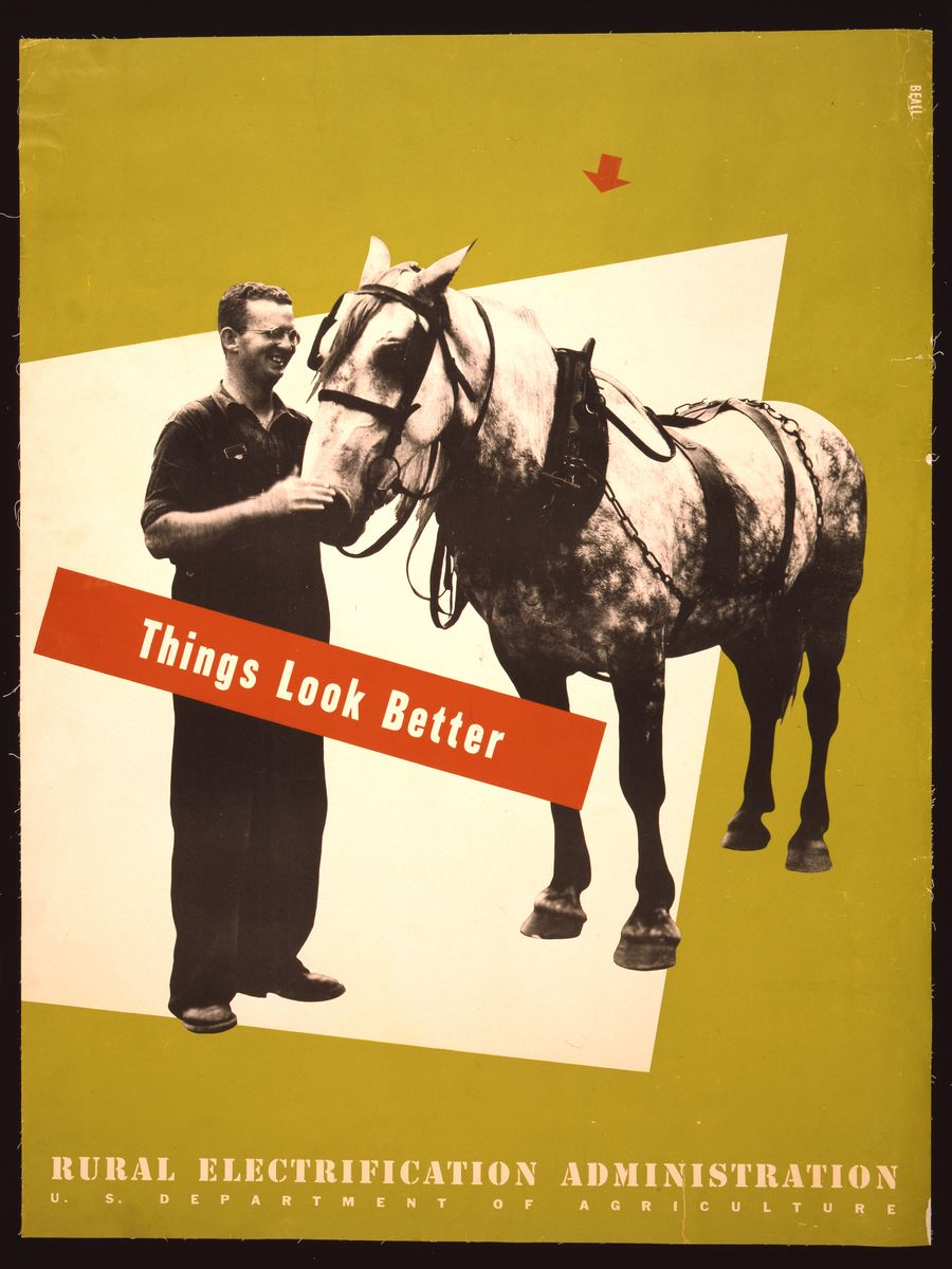 Things look better Rural Electrification Administration, U.S. Department of Agriculture - Lester Beall, 1930