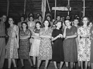 Cajun Women at a Fais-do-do Dance by Russell Lee - 1938