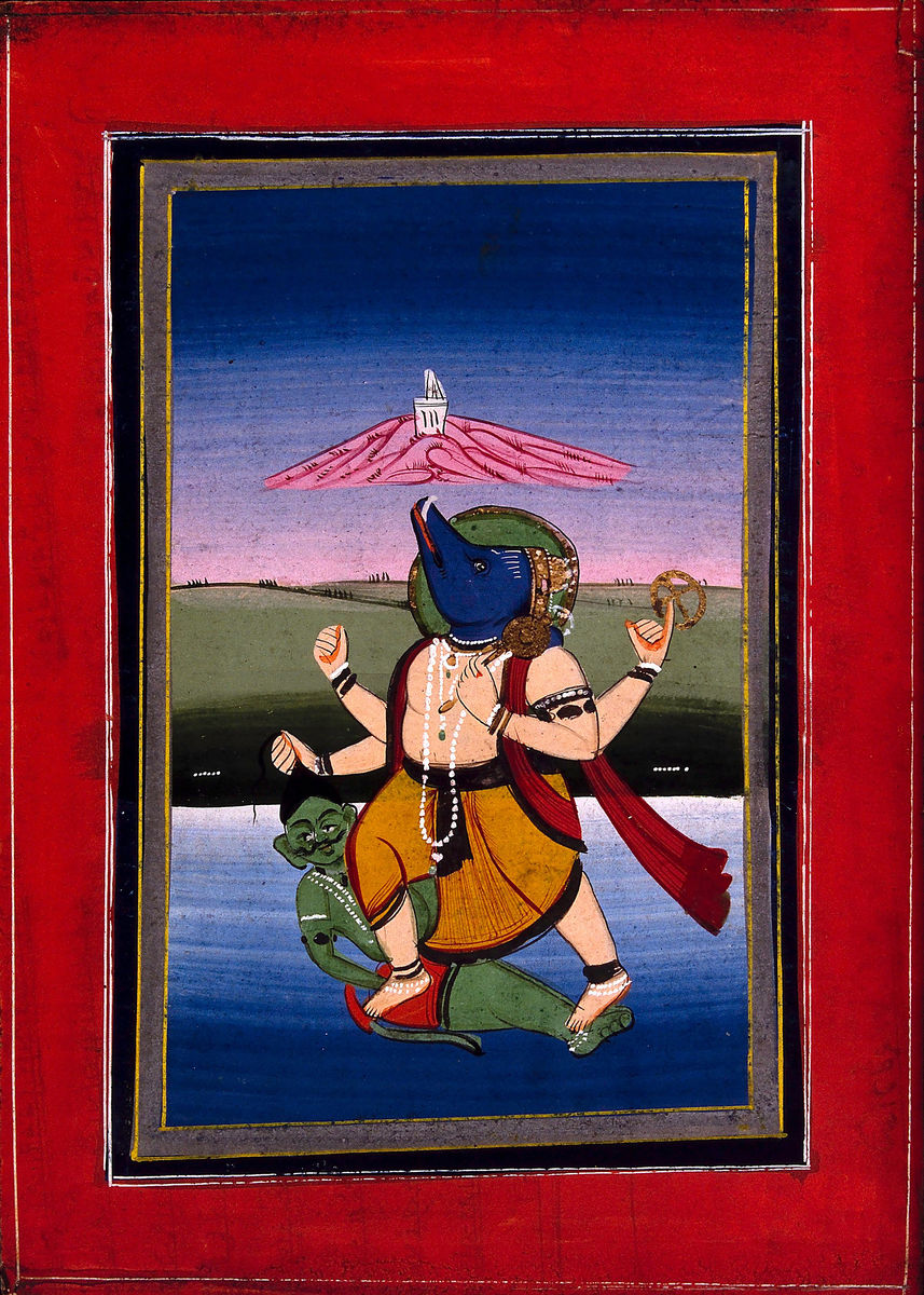 Varāha Raising the Earth from the Bottom of the Ocean and Trampling on the Demon Hiranyāksha