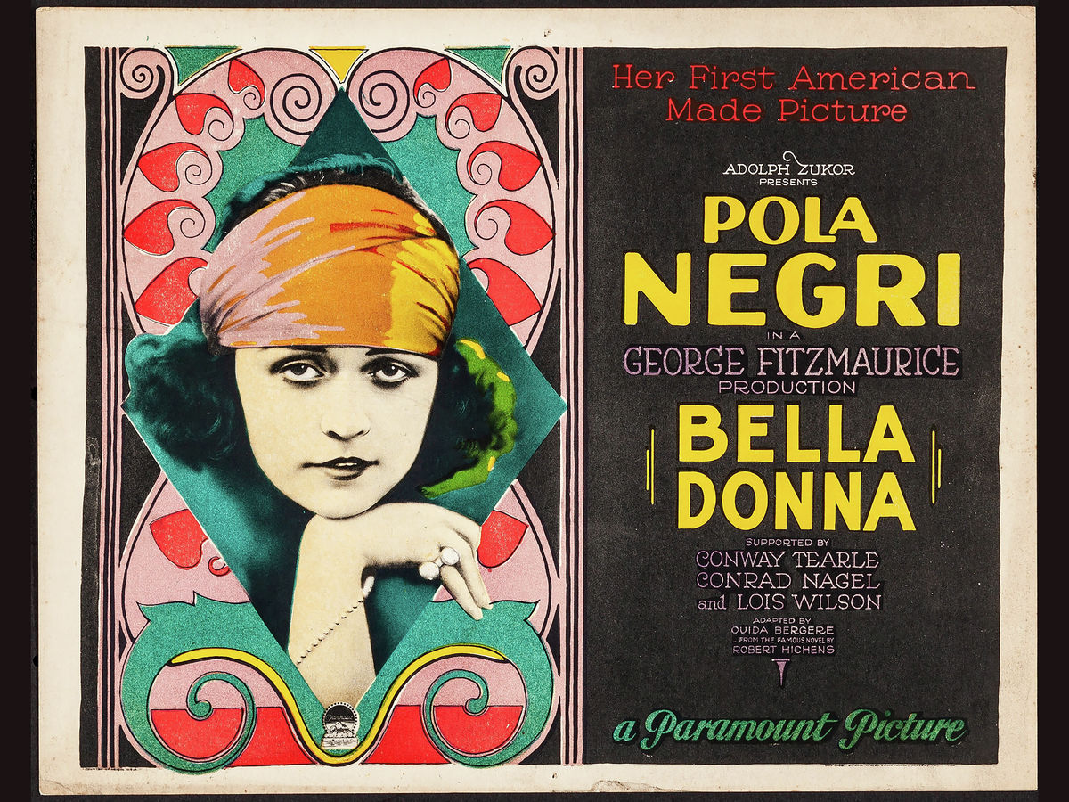 Bella Donna Movie Poster - 1923