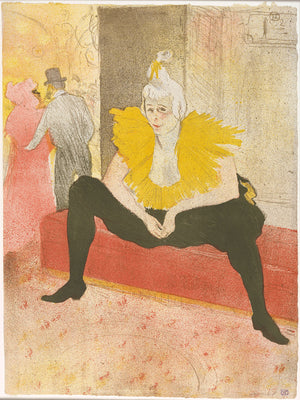 The Seated Clowness (Mademoiselle Cha-u-ka-o) (from the series Elles) , 1896 - Henri de Toulouse-Lautrec.