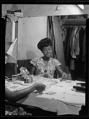 Portrait of Sarah Vaughan at Café Society - 1946