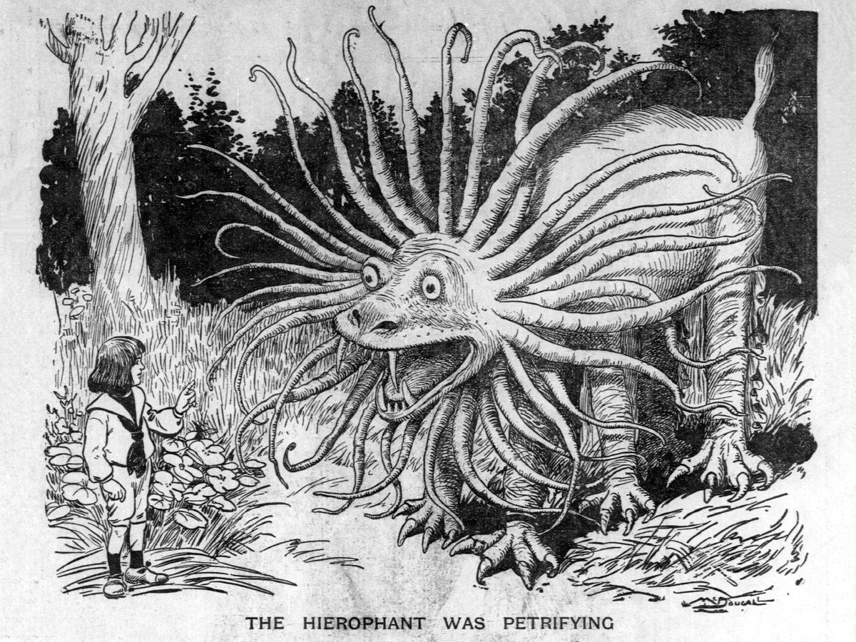 The Hierophant Was Petrifying by Walt McDougall - 1903