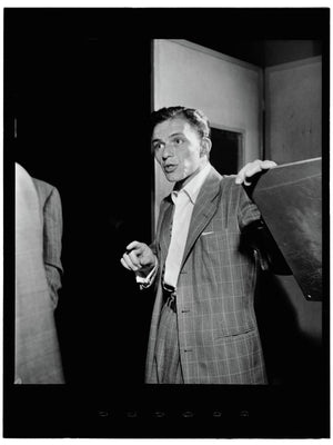 Frank Sinatra at Liederkrantz Hall by William P. Gottlieb - 1947