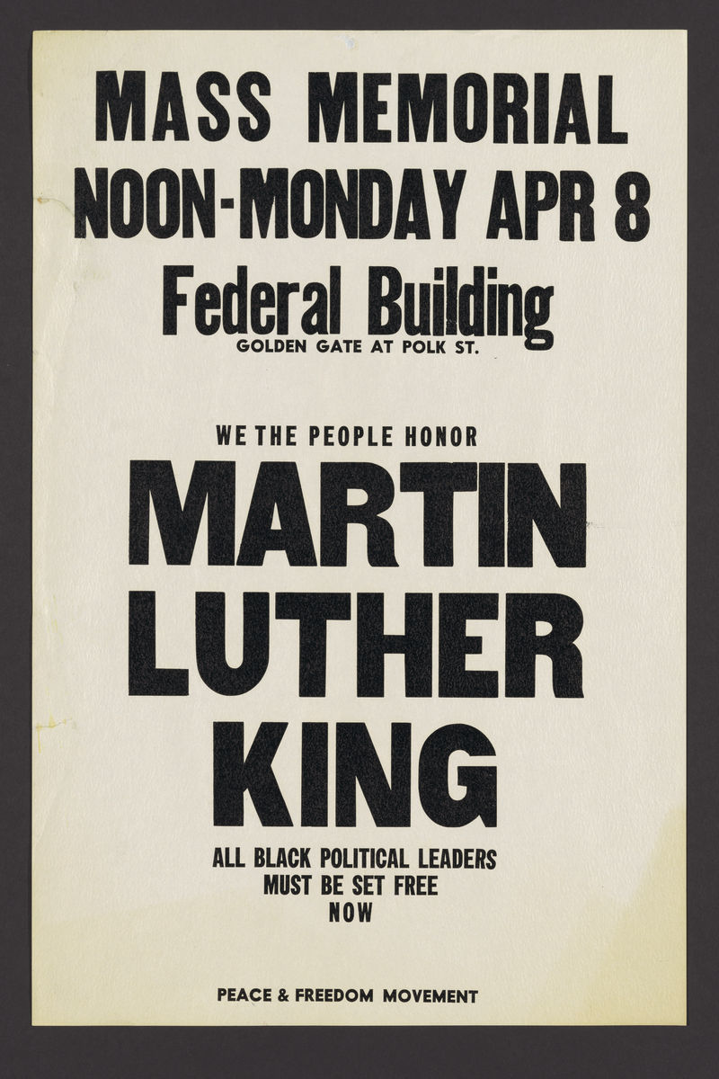 Memorial for Dr. Martin Luther King - 1970