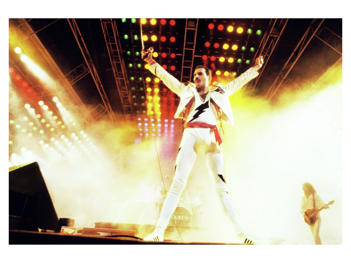 Freddie Mercury and Queen at Madison Square Garden, New York by Mark Weiss - 1985