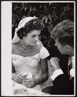 Jacqueline Bouvier Kennedy and John Kennedy's Wedding Reception by Toni Frissell - 1953