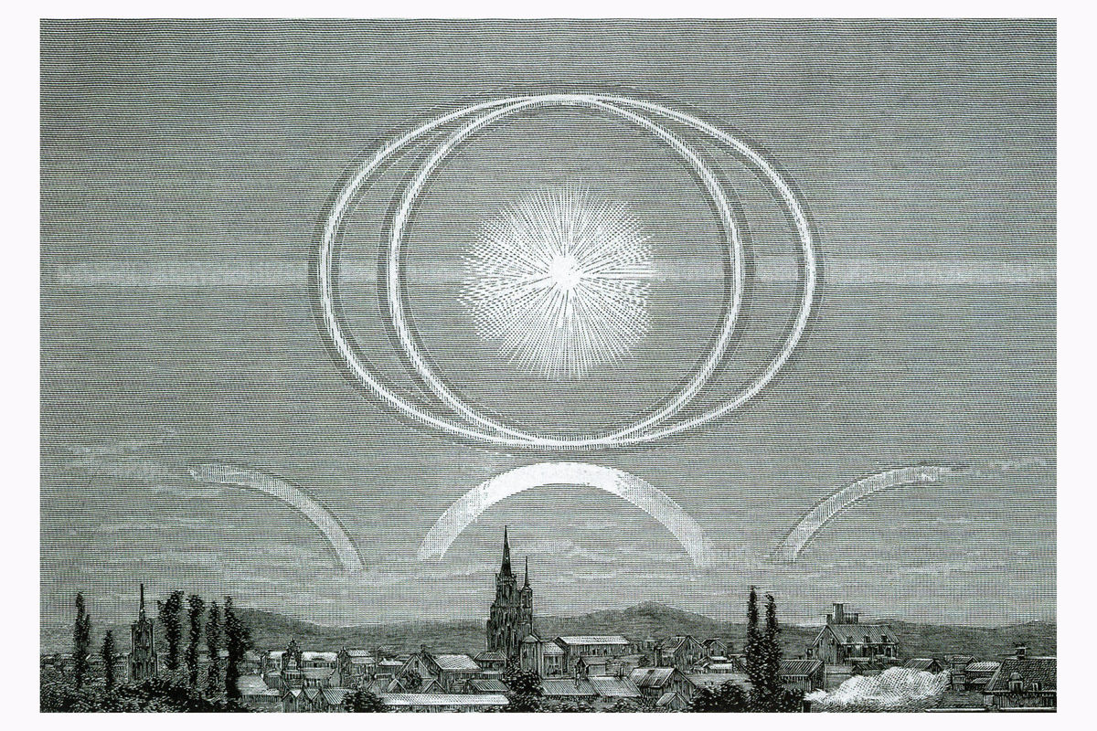 Halo Over Argentan in France - 1888