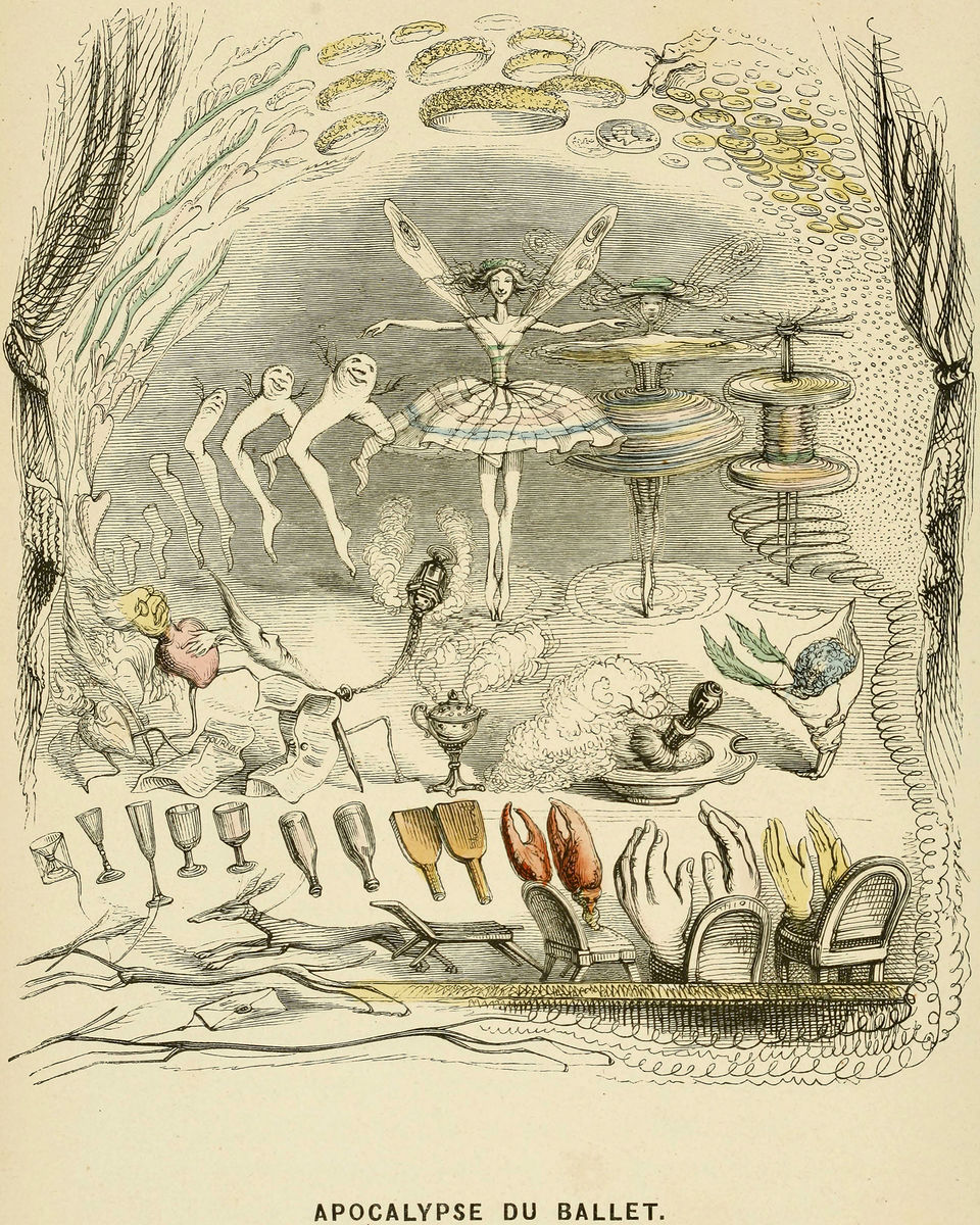 Apocalypse du Ballet - Illustration from 'Un Autre Monde', 1844