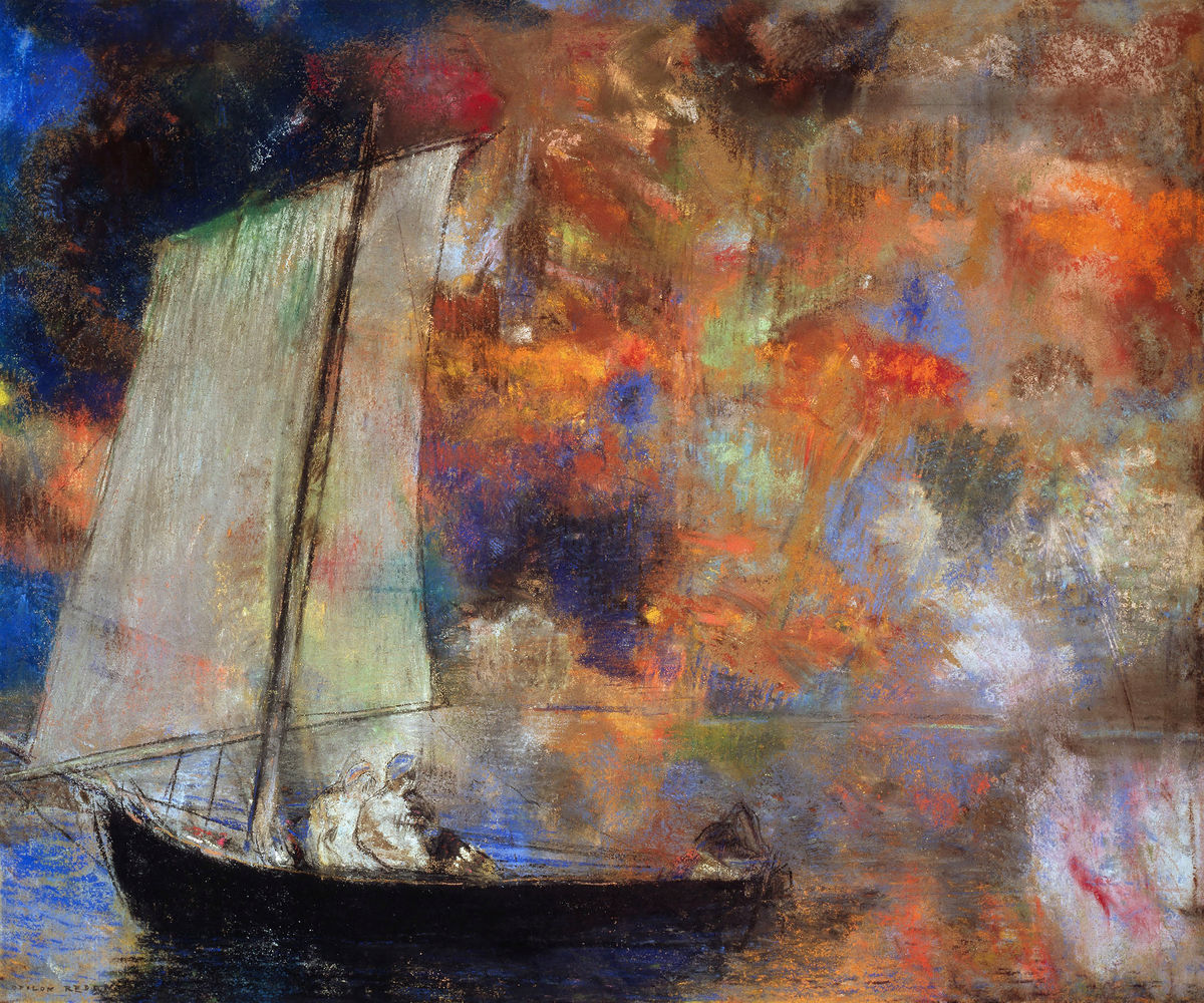 Flower Clouds by Odilon Redon - c.1903