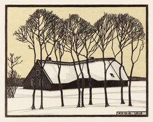 Farm in the Snow by Julie de Graag - 1918