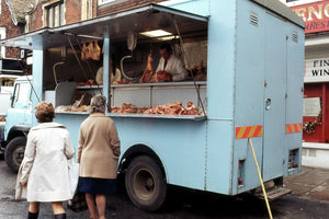 Mobile Butcher Shop, London - 1972