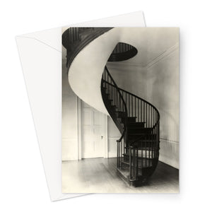 Frances Benjamin Johnston, Spiral Staircase in Mississippi, 1938 Greeting Card