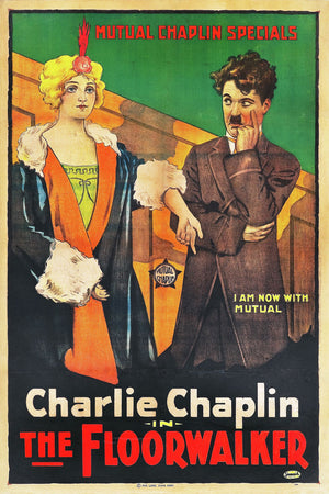 Poster for Charlie Chaplin's 'The Floorwalker' -  1917
