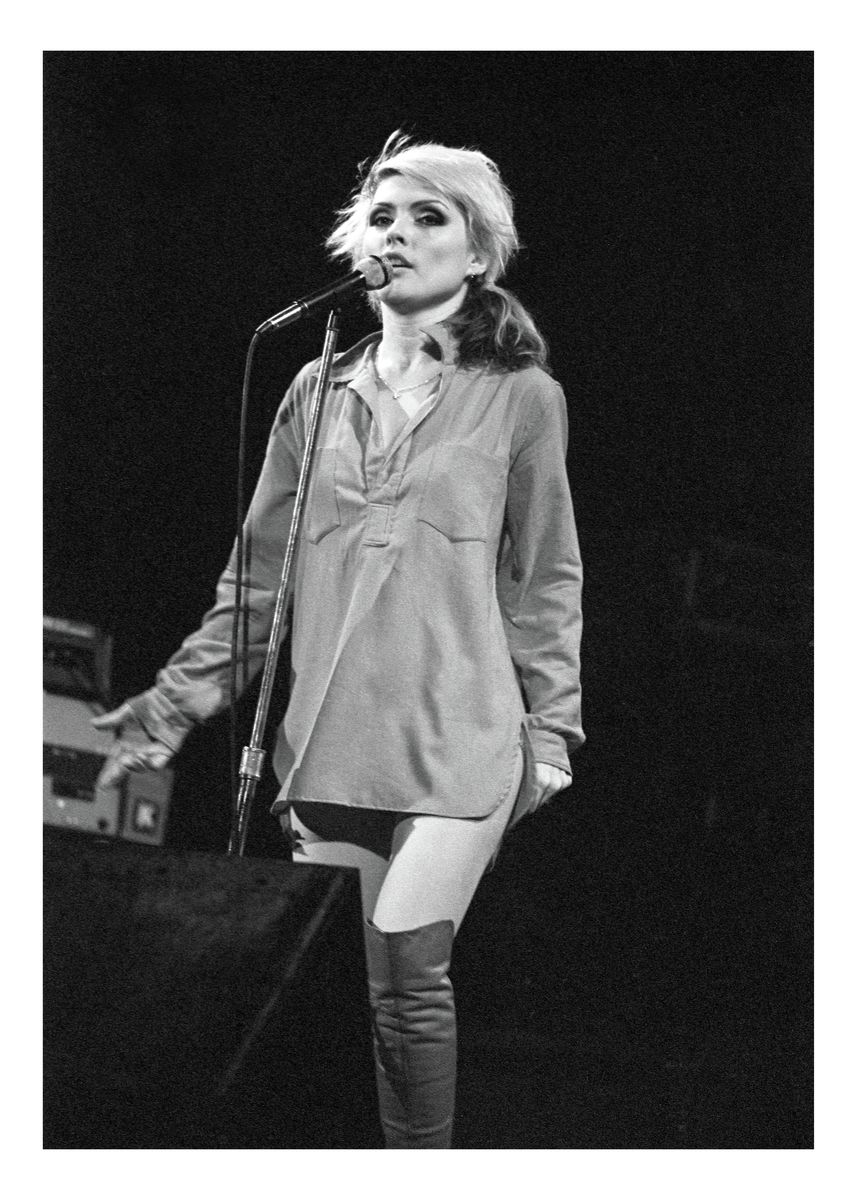 Debbie Harry of Blondie at the NYC Palladium by Mark Weiss - 1978.