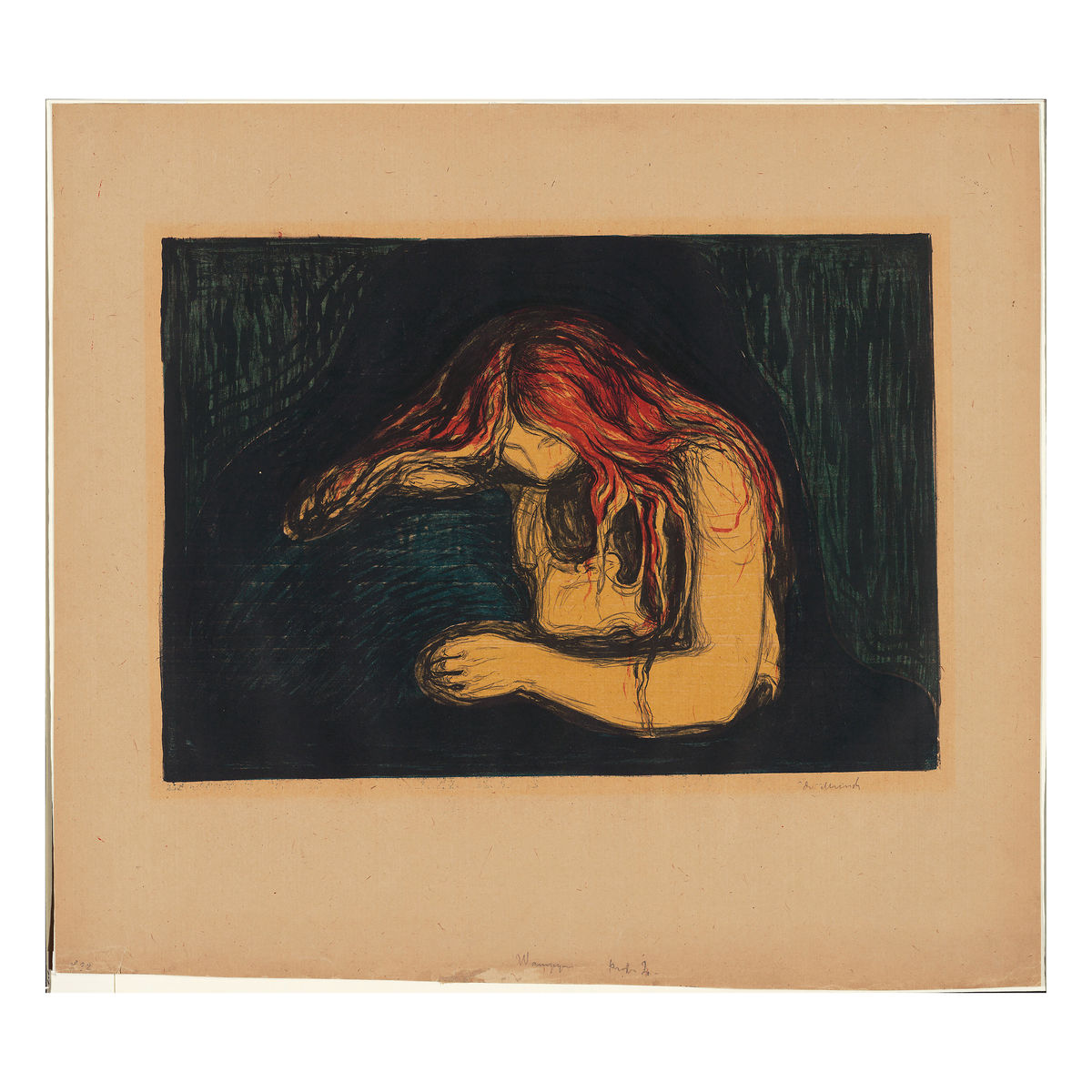 The Vampire II by Edvard Munch - 1895-1902