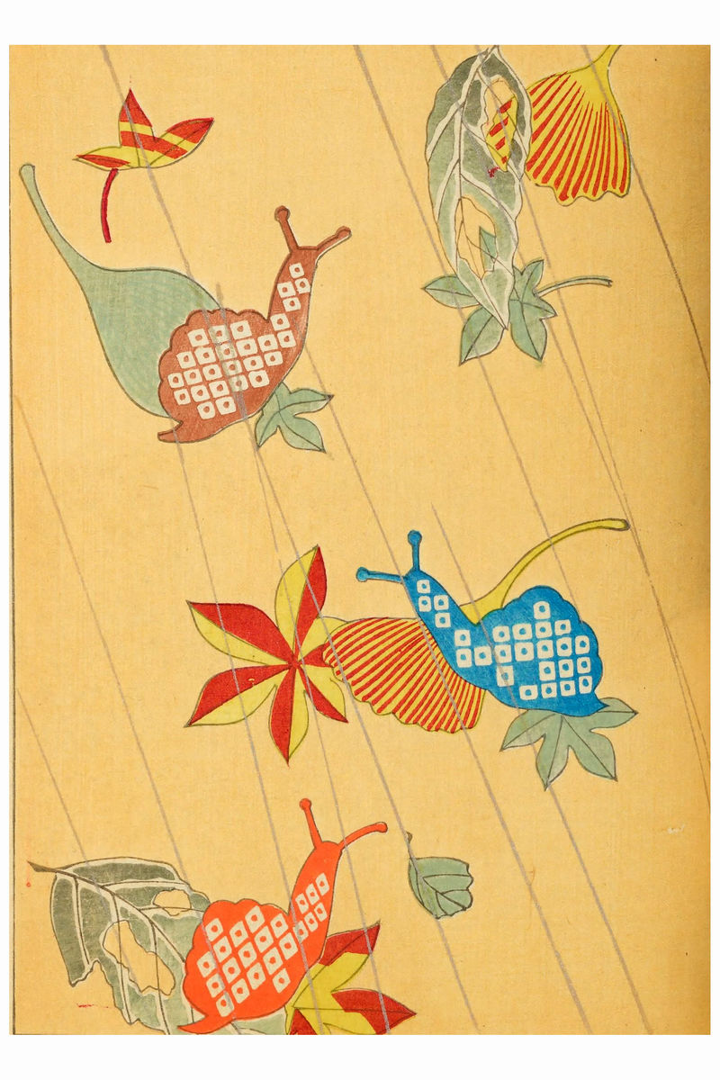 Snails From The Japanese Journal of Design - 1901